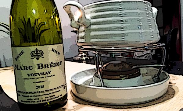 Vouvray et fondue suisse.