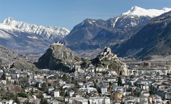 La ville de Sion en plein coeur du Valais.
